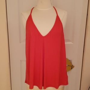 New Intimately Free People Red Racerback Tank Top